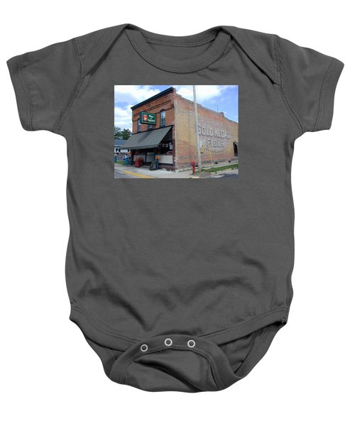 Baby Onesie featuring the photograph Gina's Pies Are Square by Mark Czerniec