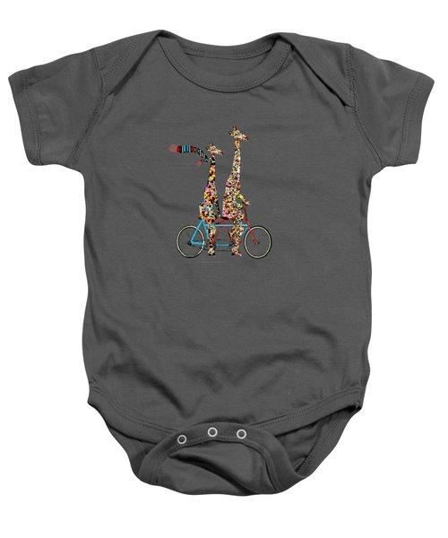 Giraffe Days Lets Tandem Baby Onesie