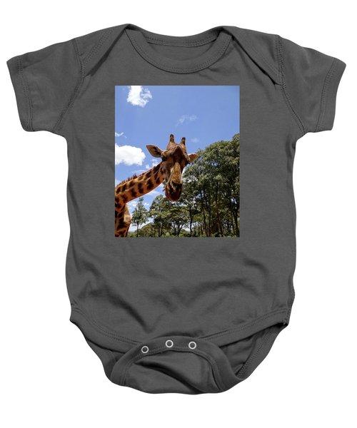 Giraffe Getting Personal 4 Baby Onesie