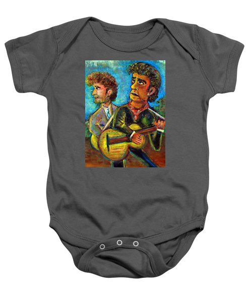 Girl From North Country Johnny Cash And Bob Dylab Baby Onesie by Jason Gluskin