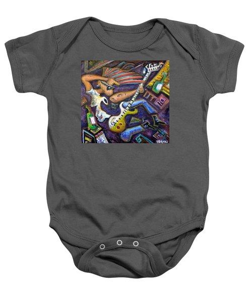 Give Em The Boot - Punk Rock Cubism Baby Onesie by Jason Gluskin