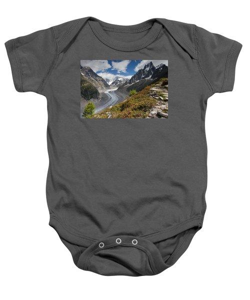 Glacier De La Mer De Glace Baby Onesie