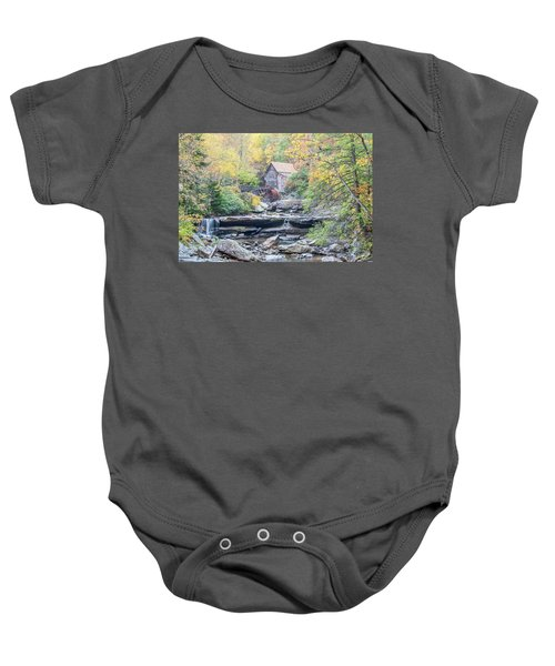 Glade Creek Grist Mill In Autumn Baby Onesie
