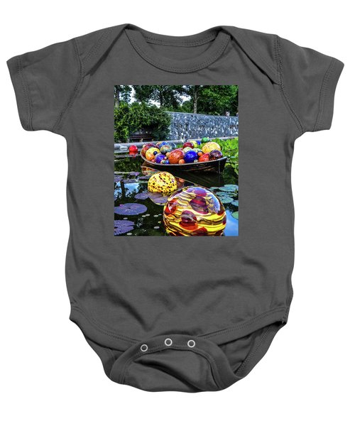 Glass On Display Baby Onesie