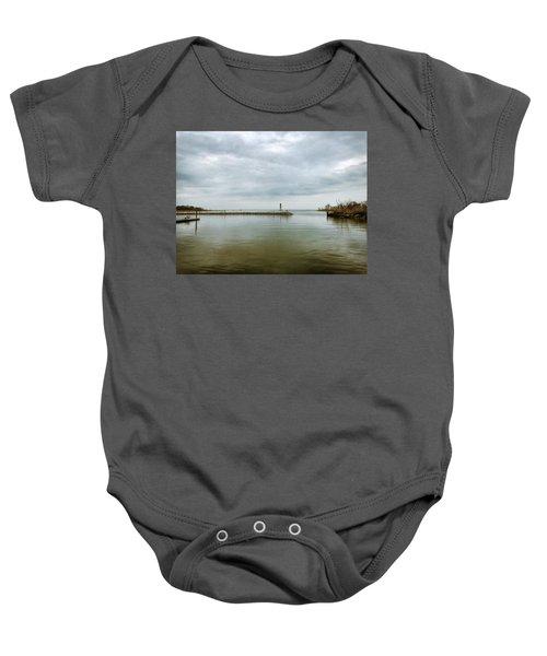 Gloom On The Bay Baby Onesie