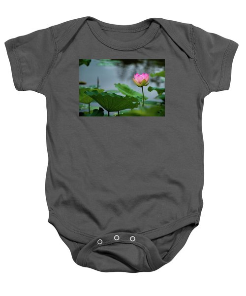 Glowing Lotus Lily Baby Onesie