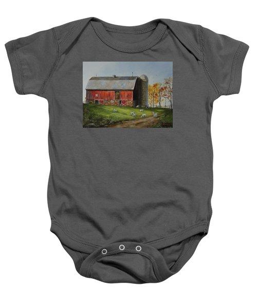 Goat Farm Baby Onesie