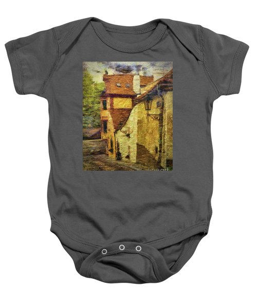 Going Downhill And Round The Bend Baby Onesie