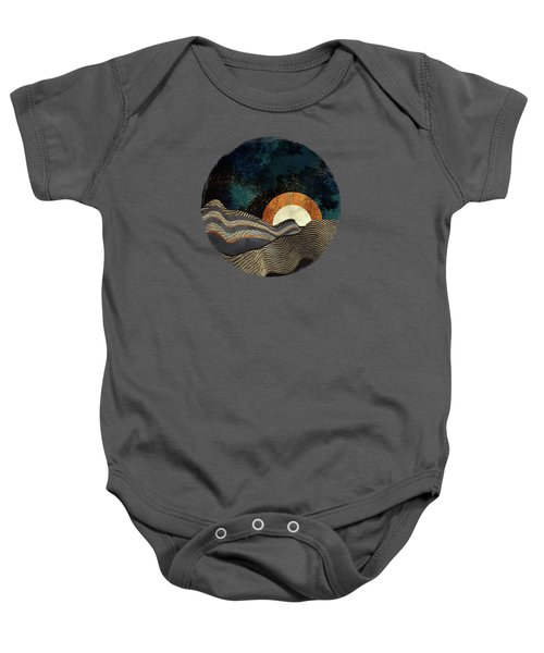 Gold And Silver Fields Baby Onesie