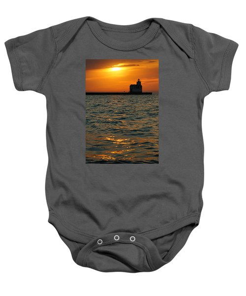 Gold On The Water Baby Onesie by Bill Pevlor