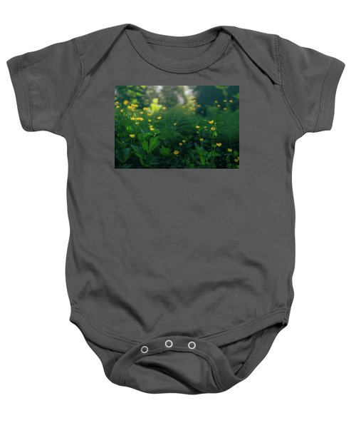Golden Blooms Baby Onesie