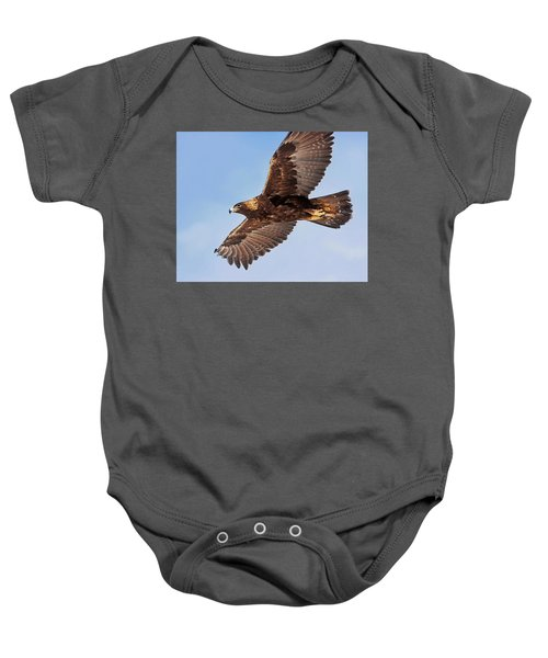 Golden Eagle Flight Baby Onesie