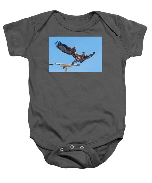 Golden Eagle Courtship Baby Onesie