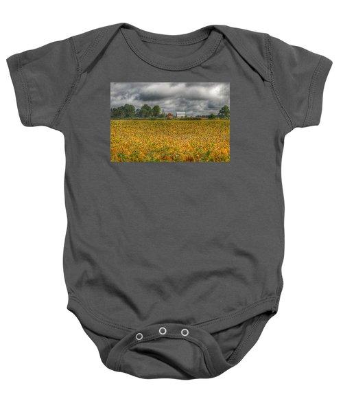 0012 - Golden Fields Farm Baby Onesie