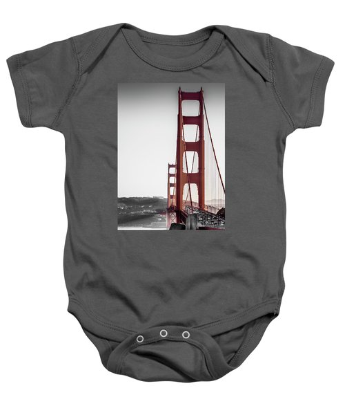 Golden Gate Black And Red Baby Onesie