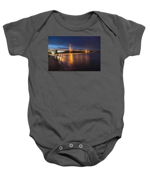 Golden Gate Blue Hour Baby Onesie