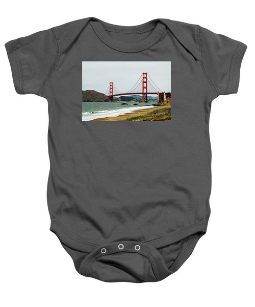 Baby Onesie featuring the photograph Golden Gate Bridge by Renee Hong