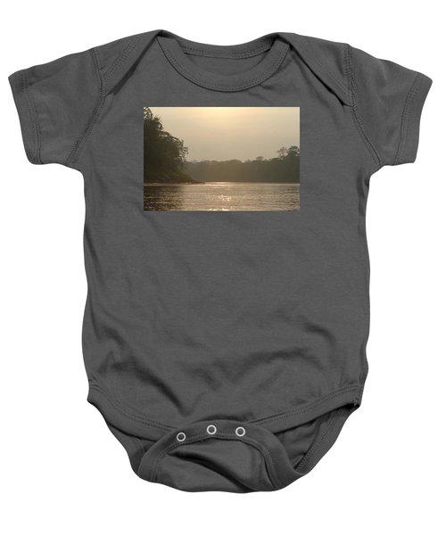 Golden Haze Covering The Amazon River Baby Onesie