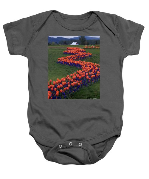 Baby Onesie featuring the photograph Golden Thread by Peter Simmons