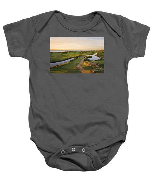 Golfing At The Gong II Baby Onesie