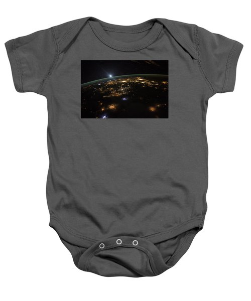 Good Morning From The International Space Station Baby Onesie