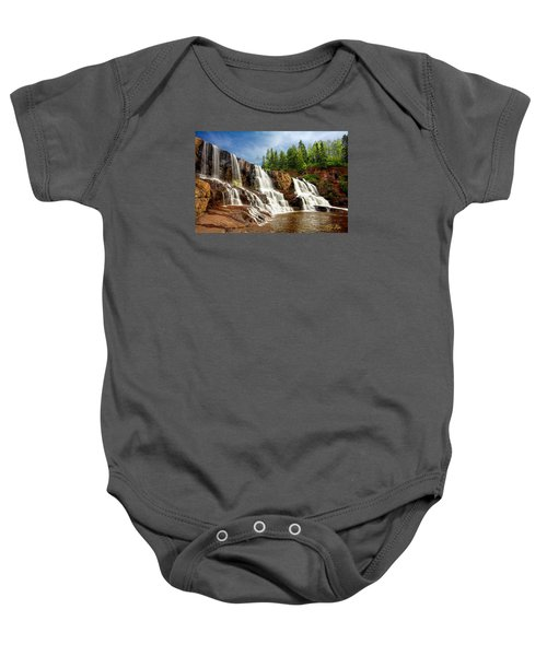 Baby Onesie featuring the photograph Gooseberry Falls by Rikk Flohr