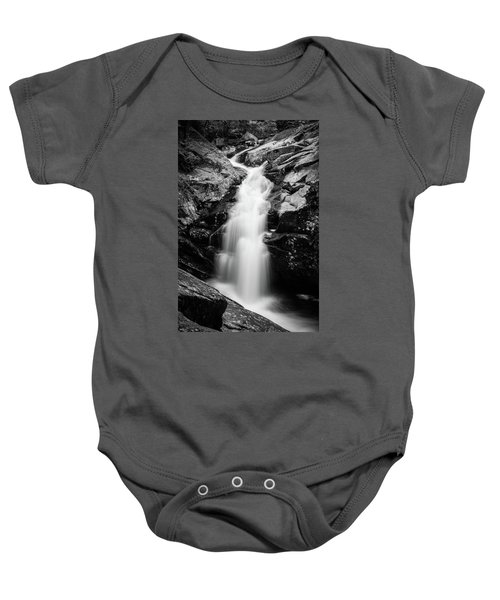 Gorge Waterfall In Black And White Baby Onesie