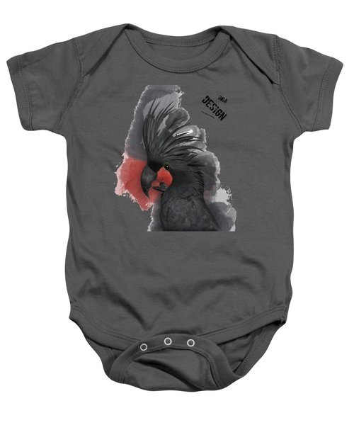 Gorgeous Palm Cockatoo In Profile  Baby Onesie