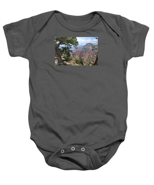Grand Canyon North Rim - Through The Trees Baby Onesie