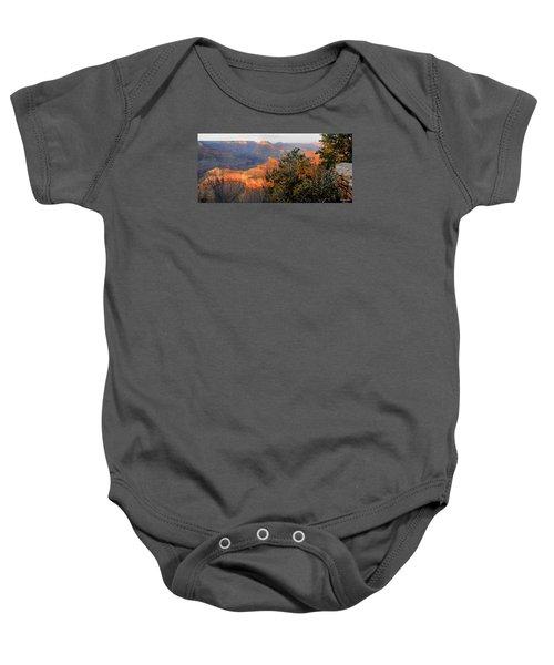 Grand Canyon South Rim - Red Berry Bush Along Path Baby Onesie