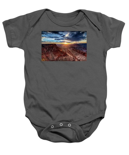 Grand Canyon Sunburst Baby Onesie