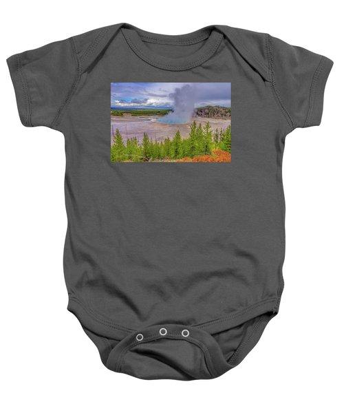 Grand Prismatic Spring Overlook Yellowstone Baby Onesie