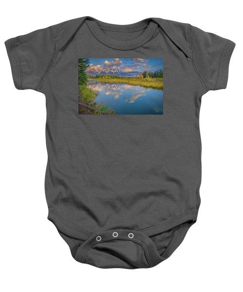 Grand Teton Morning Reflection Baby Onesie