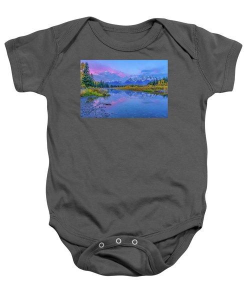 Grand Teton Sunrise Baby Onesie