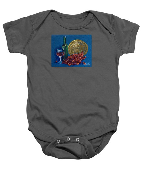 Grapes And Wine Baby Onesie