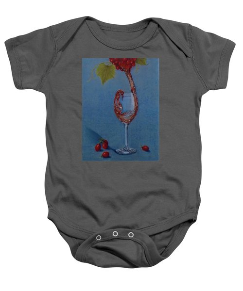 Grapes To Wine Baby Onesie