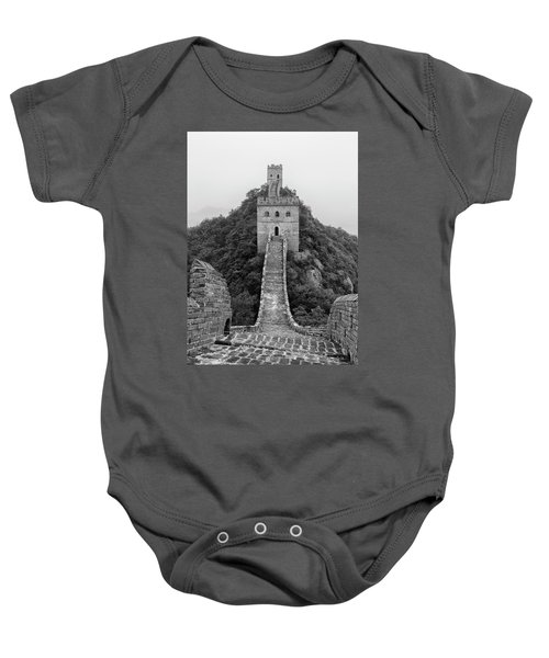 Baby Onesie featuring the photograph Great Wall 1, Jinshanling, 2016 by Hitendra SINKAR