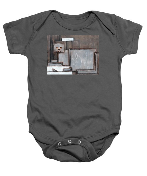 Tommervik Gray And White Cat Art Print Baby Onesie