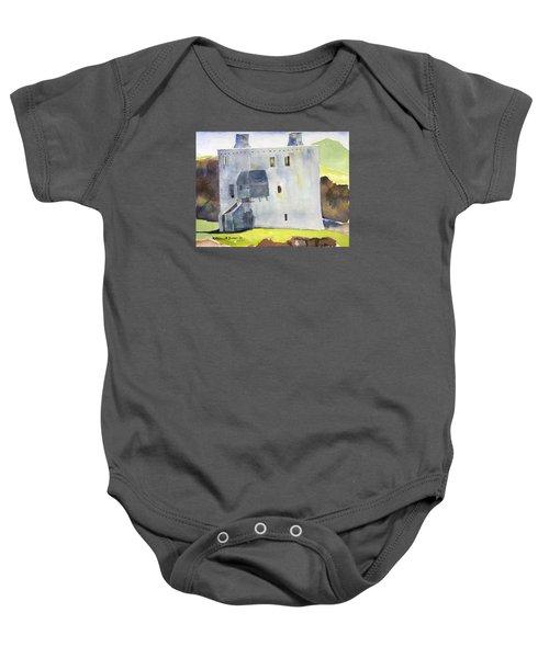 Gray Castle Baby Onesie