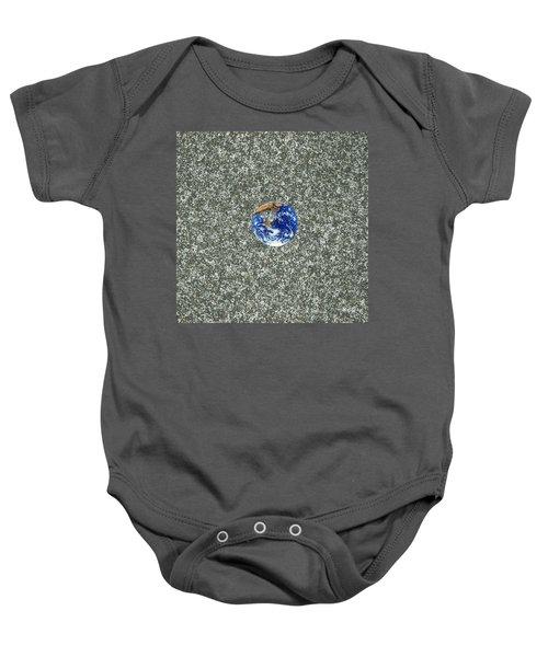 Gray Space Baby Onesie