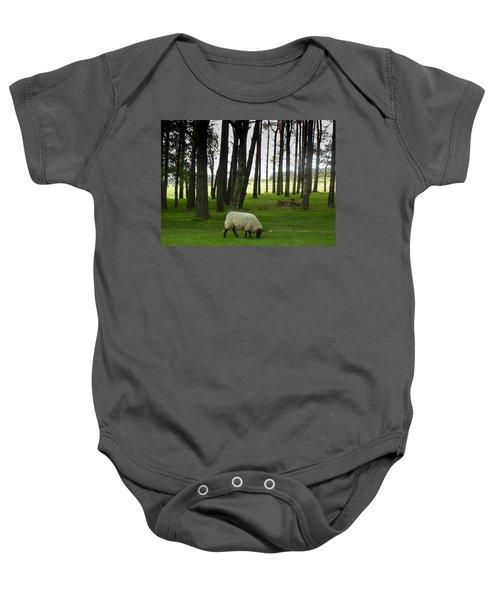 Grazing In The Woods Baby Onesie