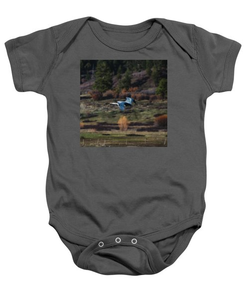 Great Blue Heron In Flight II Baby Onesie