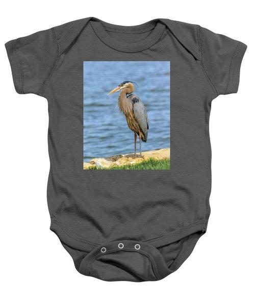 Great Blue Heron Baby Onesie