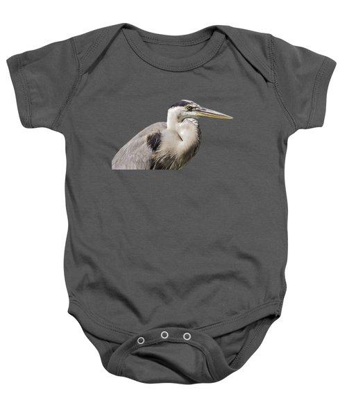 Great Blue Heron Transparency Baby Onesie