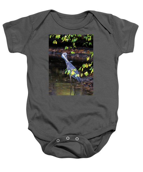 Great Blue Heron With An Itch Baby Onesie