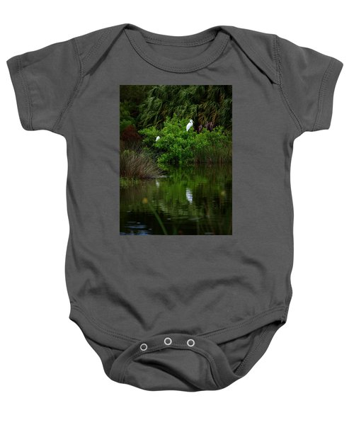 Great Egret Baby Onesie