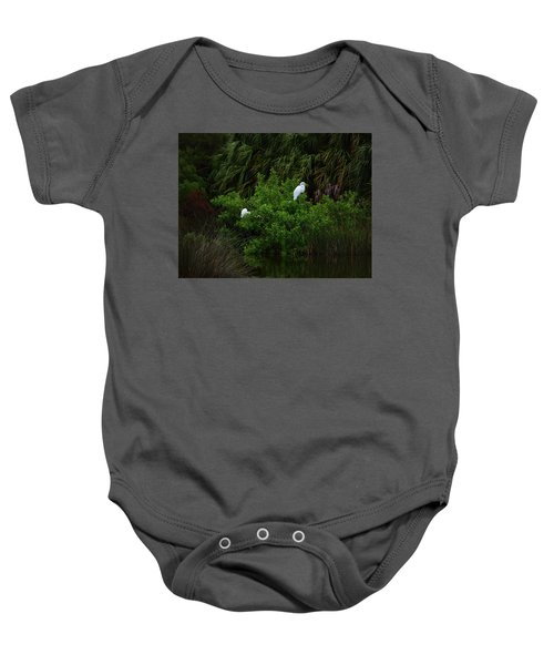 Great Egrets Baby Onesie