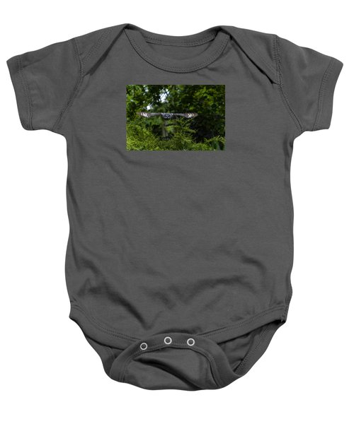 Great Grey Owl In Flight Baby Onesie