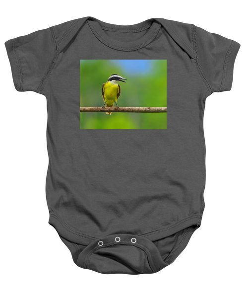 Great Kiskadee Baby Onesie by Tony Beck