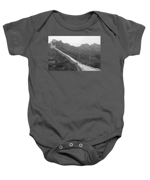 Baby Onesie featuring the photograph Great Wall 4, Jinshanling, 2016 by Hitendra SINKAR